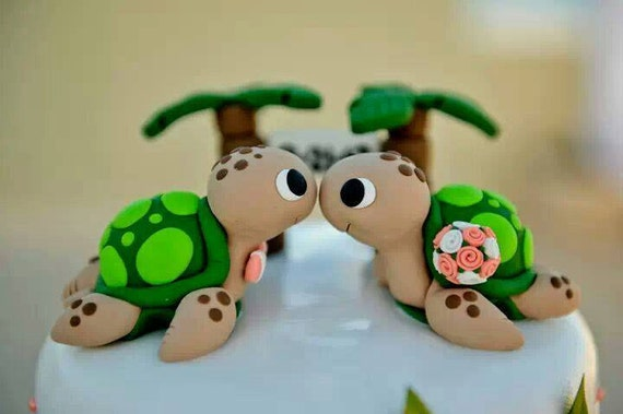 sea turtle wedding cake topper sea turtle wedding cake topper with palm trees choose your 19729