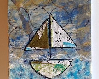 Set Sail Collage Painting