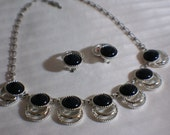 Vintage Sarah Coventry Necklace and Clip Earring Set