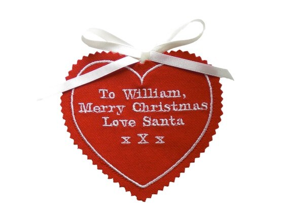 Basket Weaving Nuneaton : Personalised gift tag from santa katesprostondesign
