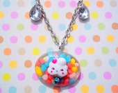 Kawaii Ice Cream Cone Jewelry Necklace - OOAK