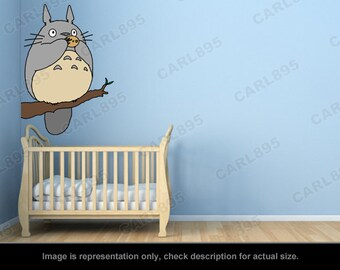 Totoro Inspired - Totoro Tree Flute Wall Art Applique Sticker