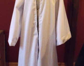Jedi Robe In White Cotton Drill/Larp/Pagan/Fantasy