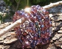 Sacred Violet Flame of Saint-Germain Crystal Bracelet Spiritual Metaphysical Jewelry Lightworker Psychic Indigo Crystal Starseed New Age