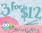 Bowtykes Crochet Pattern Combo Pack - any 3 for 12.00
