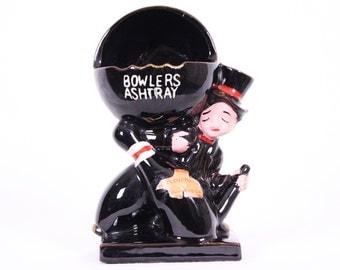 1950s Ceramic Bowlers Ashtray Tobacciana / Made in Japan