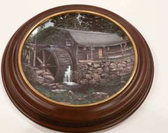 New London Grist Mill Knowles Collector Plate Vintage