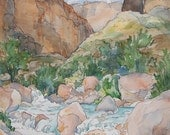 Havasu, Grand Canyon - Limited edition print of original wilderness watercolor