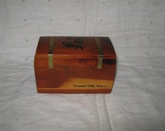 Pirate Treasure Chest Souvenir Cedar Box Wisconsin Dells