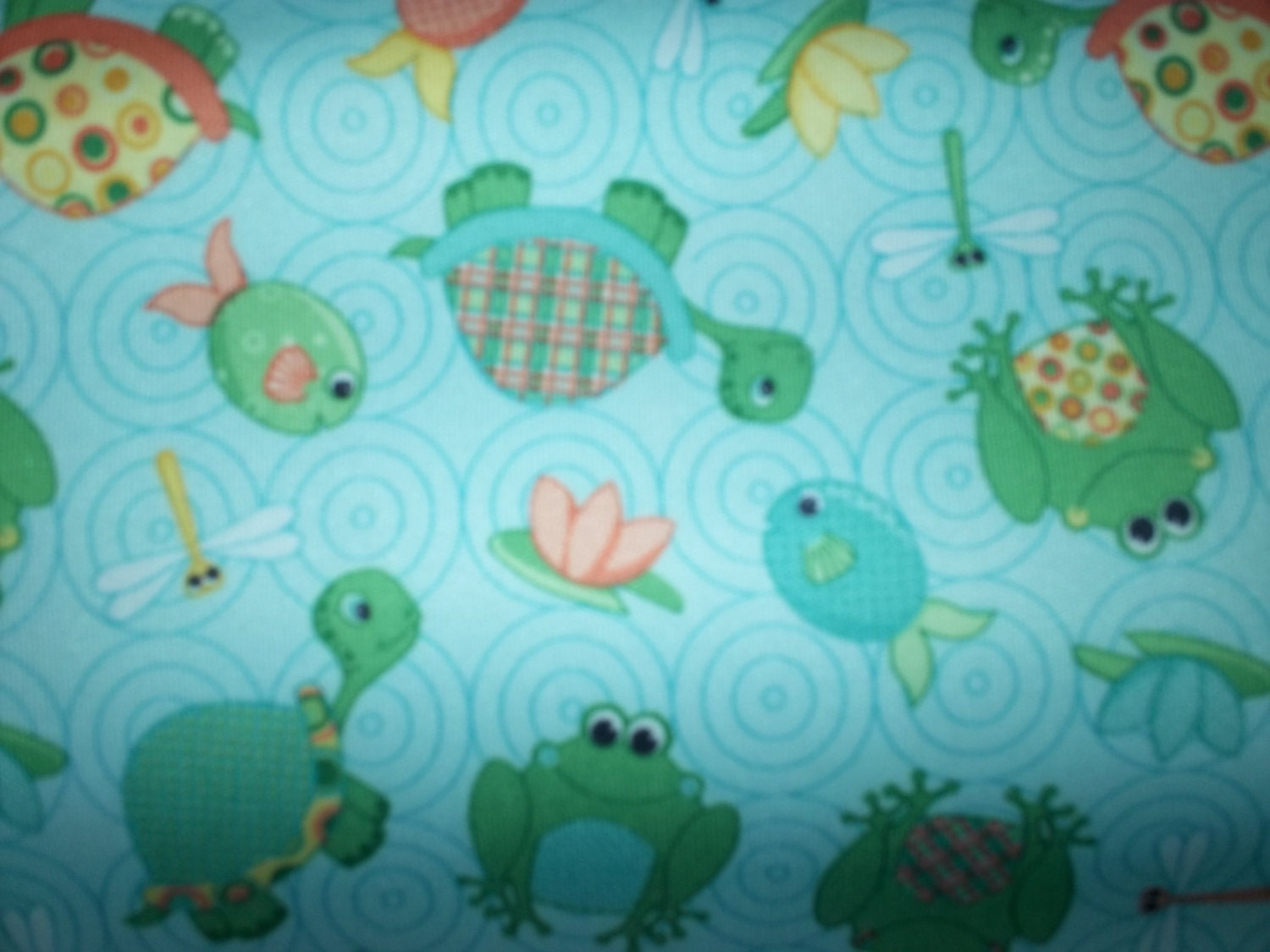 Pul fabric by the yard w turtles fish by soglad2sew on etsy for Fish fabric by the yard