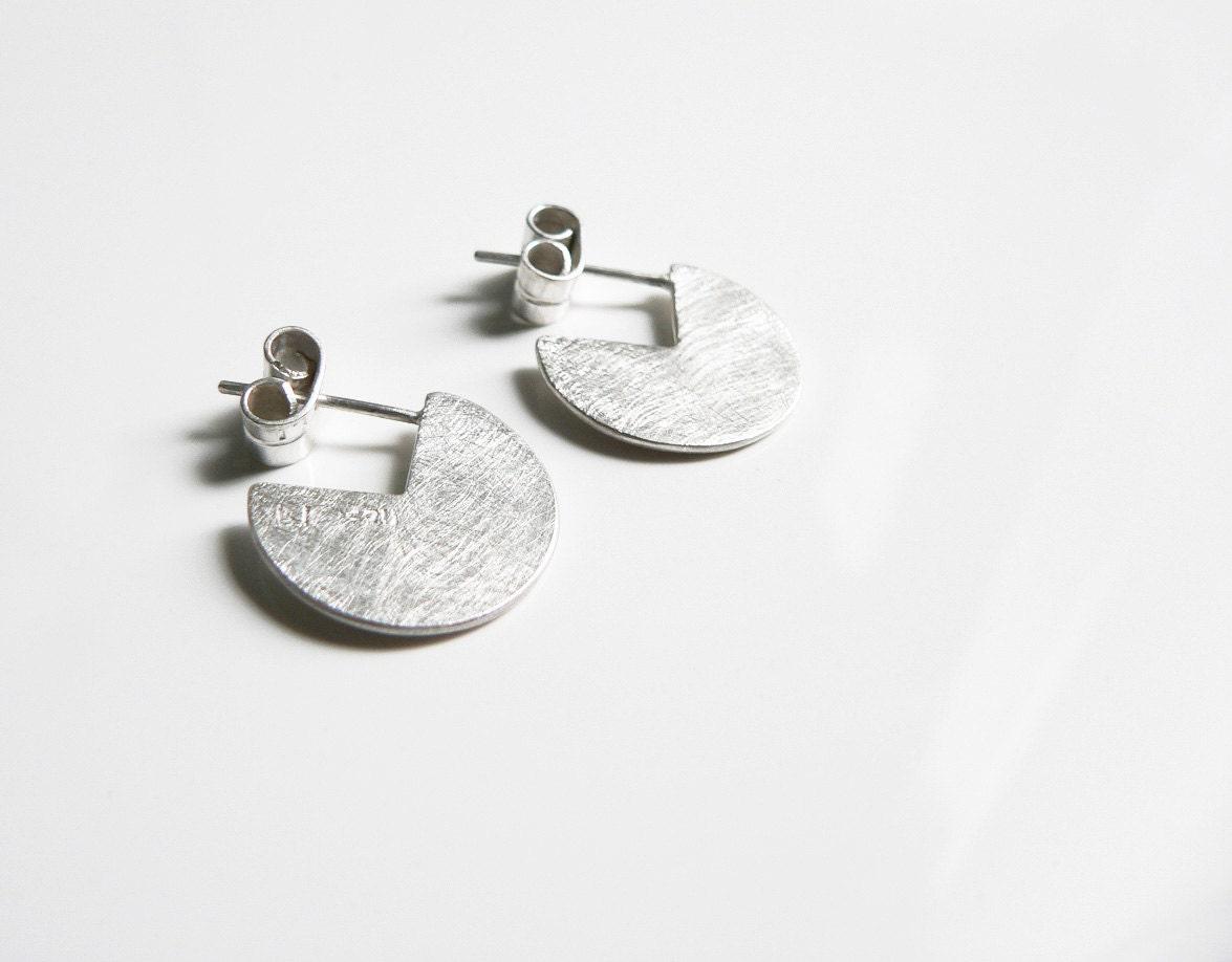 minimal silver earrings simple silver earrings minimalist