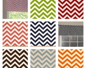 """Pick your Color Premier Prints Chevron Valance 50"""" wide x 16"""" long Zig Zags Lined with Drapery Lining"""