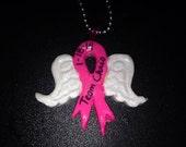 Cancer Awareness Angel Pendant Fight Like A Girl Team Chris