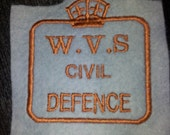 Reproduction WVS Civil Defence embroidered patch Womens Volunteer Service
