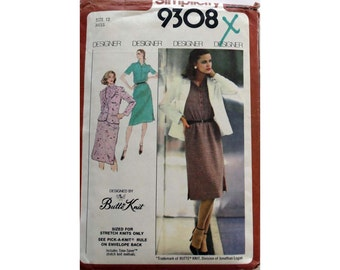 Knit Dress and Jacket Pattern Simplicity 9308