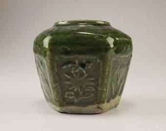 Antique Chinese Shiwan Burial Jar