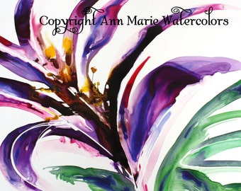 Grand Opening - 8 x 10 floral watercolor giclee print
