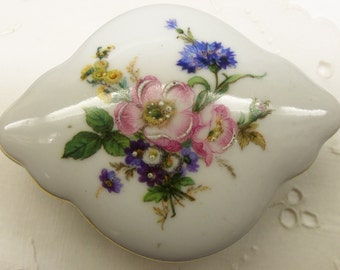 Antique Elfinware Floral Trinket Box from Germany