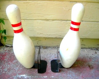 Vintage bowling bookends
