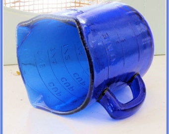 Cobalt Blue Cup Measure