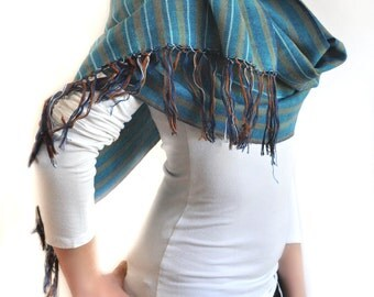Foggy Seas - Ikat Cotton Scarf - 6001. Free Shipping on orders 100 dollars and up (USA). Coupon Code: USFREESHIPPING