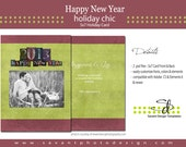 """Photography """"Happy New Year"""" 5x7 Holiday Card Template"""