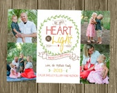Christmas Photo Card - Let your heart be light