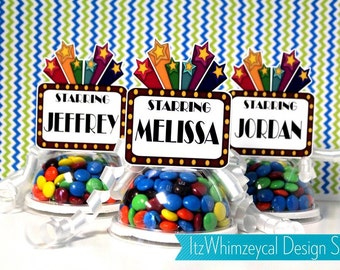 Hollywood Movie Premier Marquee Candy Favor Containers