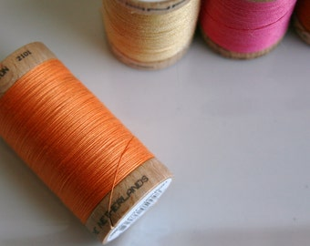 ORGANIC Cotton Thread in Tangerine  - GOTS Certified - 4804