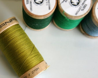 ORGANIC Cotton Thread in Celery  - GOTS Certified - 4823