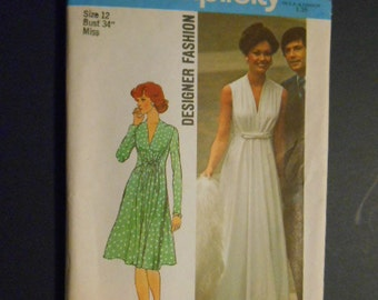 McCalls 6672,  Evening dress,  size 12