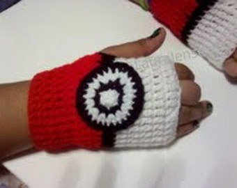 Pokemon Fingerless Wrist Warmers Gloves