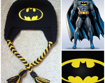 Crochet Batman Beanie/Hat