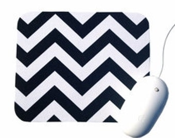 Chevron Mouse Pad / Black and White / Home Office Decor / Zig Zag / Premier Prints