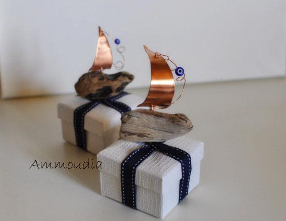 Driftwood Sailboat Favors Wedding Favors Bridal Shower