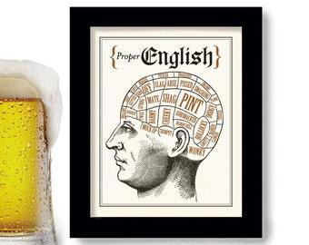 English Language Art, Sherlock, Phrenology Head, London England, Sherlock Holmes, Slang Words Pint Beer