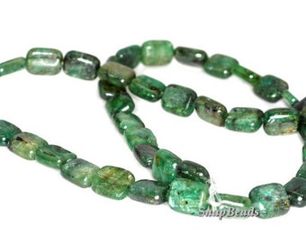 10x8mm Green Kyanite Gemstone Grade A Green Rectangle Loose Beads 7 inch Half Strand (90143826-175)