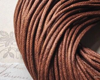 2 mm Chocolate Color Cotton Cords (.sah)