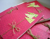 Merry Christmas Tree Card Set of 10 with Envelopes