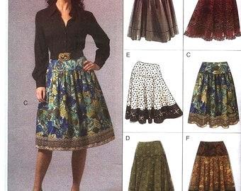 Brand New  Vogue EASY OPTIONS Pattern v8295 Sz 6-12  Misses Misses Petite Skirt Wardrobe  Uncut Factory Folded