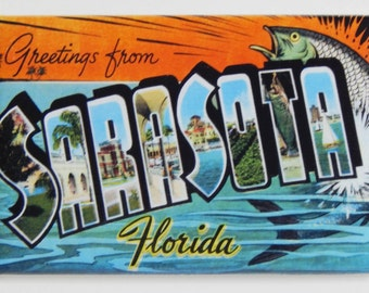 Greetings from Sarasota Florida Fridge Magnet