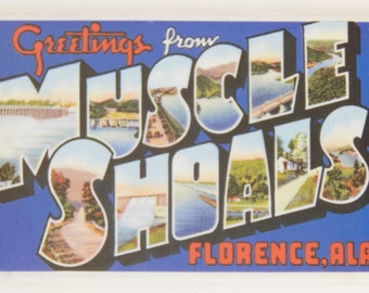 Greetings from Muscle Shoals Alabama Fridge Magnet