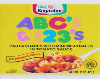 ABC & 123 Pasta Label Fridge Magnet