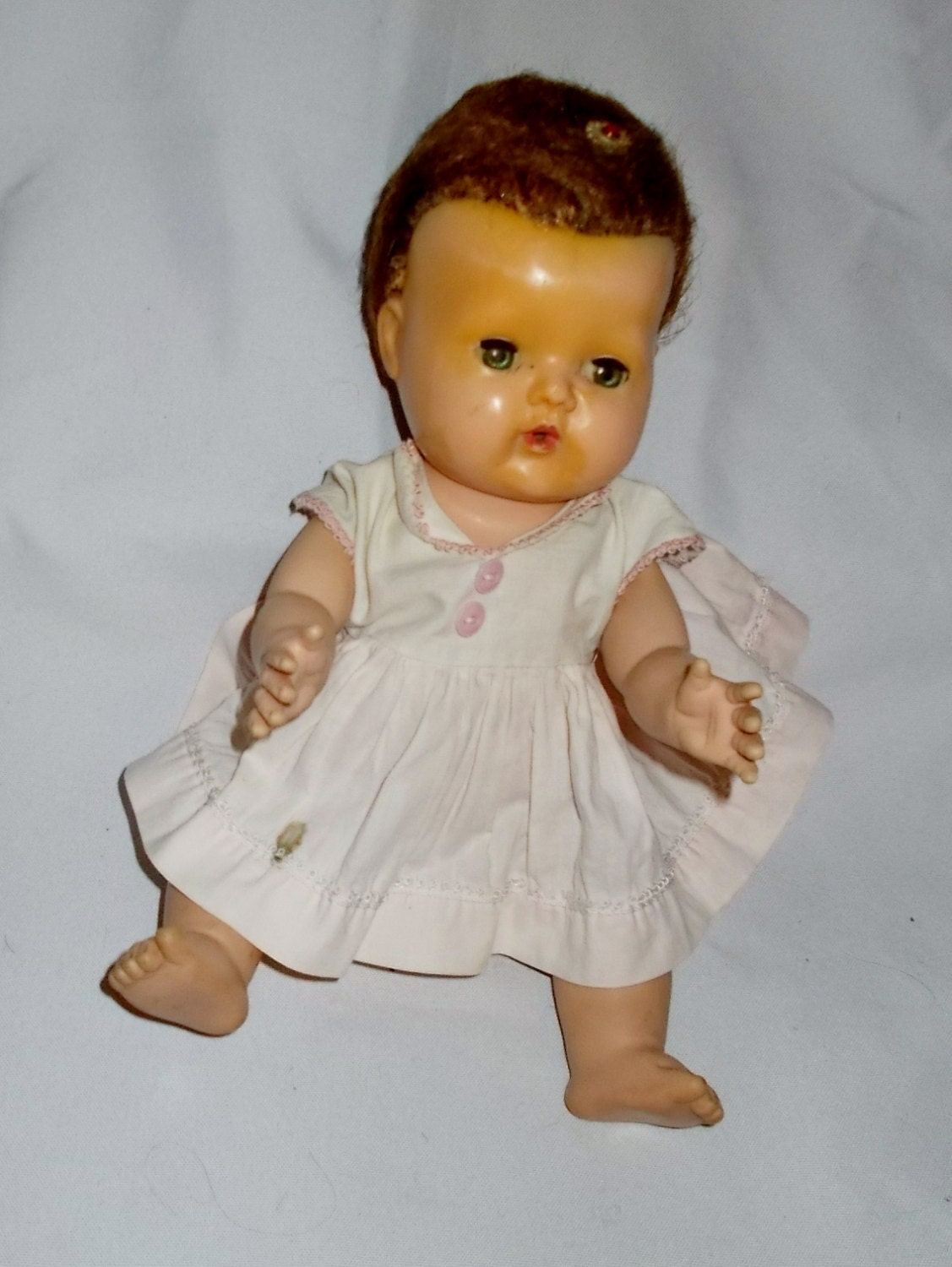 Small Toy Dolls : Vintage tiny tears doll american character original dress