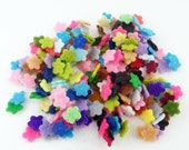 Felt flowers. size 7mm. 100 pieces. Die Cut Shapes, Applique, Confetti, Party Supply, DIY Wedding