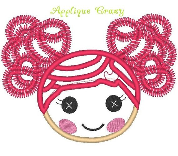 Doll Face Silly hair Applique design