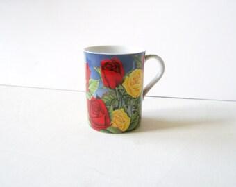 Flower cup -  teacup -coffee cup- Vintage teacup