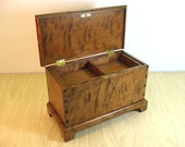 Curly Cherry Miniature Keepsake Box with Lock and lift out Tray