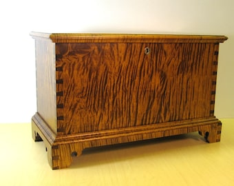 Tiger Maple Childs Size Miniature Blanket Chest