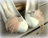 Wedding Shoe Clips, Bridal Shoe Clips, Feather Shoe Clips, Womens Shoe Clips, Rhinestone Shoe Clips, Clips for Wedding Shoes, Bridal Shoes